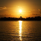 Sfondo tramonto città