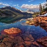 Parchi naturali lago in montagna