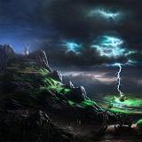 paesaggio col fulmine