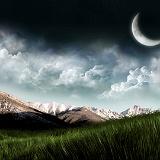 paesaggio con la luna
