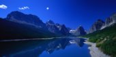panorame splendido con riflesso della montagna sul lago