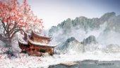 paesaggio con tempio Giapponese