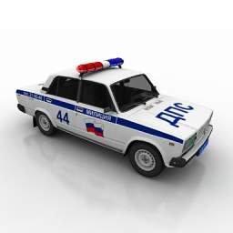 automobile della polizia russa
