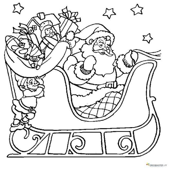 Bambini Babbo Natale Disegno.Disegno Per Bambini Di Babbo Natale Con La Slitta