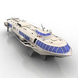 Aliscafo passeggeri - Meteor-342 (URSS) - Modello 3D