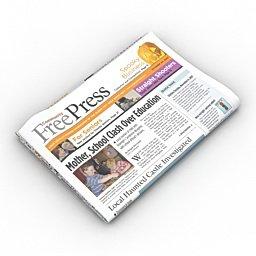 grafica newspaper 3d