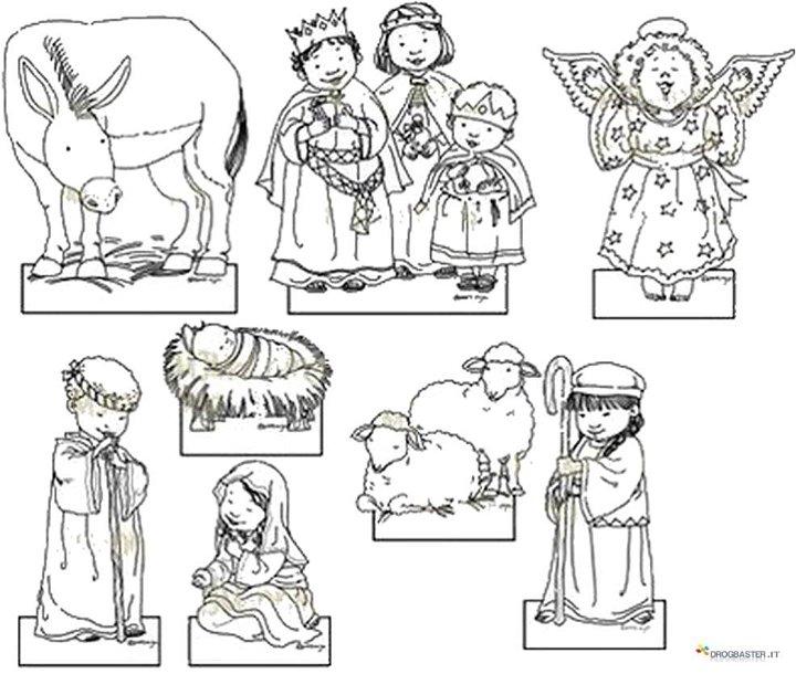 Disegni Dei Personaggi Del Presepio Bue Asinello Pastori