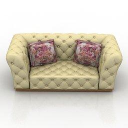 sofa salotto 3d