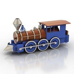 modellino di trenino a vapore
