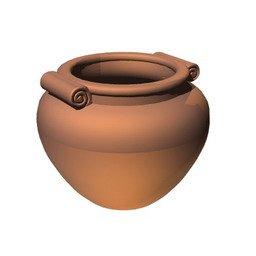 vaso in terracotta 3d