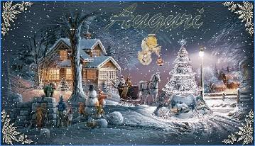 Immagini Natalizie Per Desktop Animate.Paesaggi Di Natale 3d Innevati Gif Animate