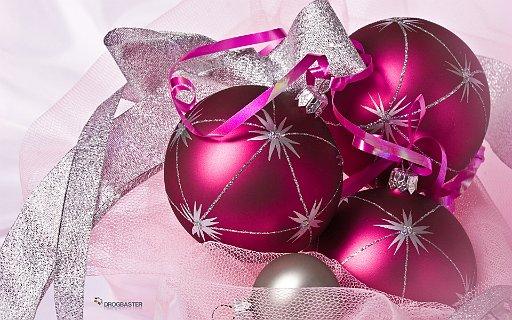 Sfondo Natalizio con decorazione di palle di Natale.