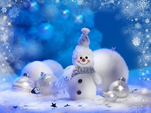 scarica gratis sfondi con Pupazzo di Neve