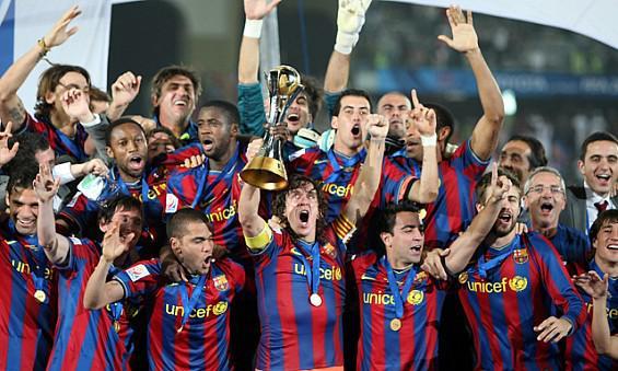 squadra Barcellona vince Coppa del mondo per club FIFA 2015