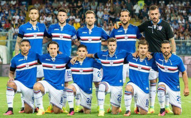 Foto di gruppo squadra Sampdoria