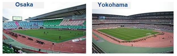 Stadio di calcio di Osaka e Yokohama