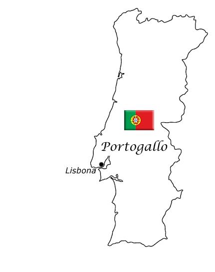 Cartina Portogallo Da Stampare.Mappa E Bandiere Delle Nazioni Da Stampare E Colorare