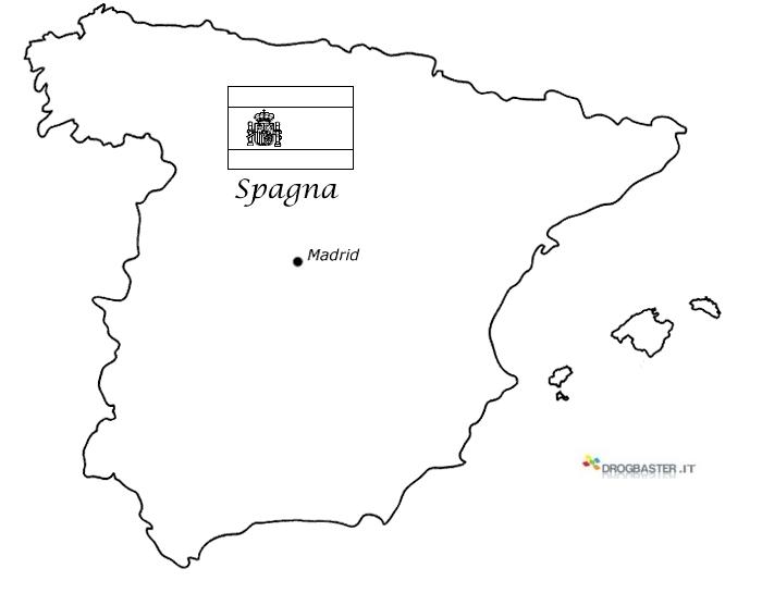 Cartina Geografica Inghilterra Da Colorare.Cartina Spagna Politica Da Stampare