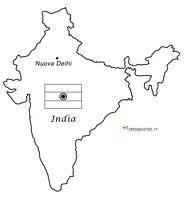 Cartina Muta India Da Stampare.Mappa E Bandiere Delle Nazioni Da Stampare E Colorare