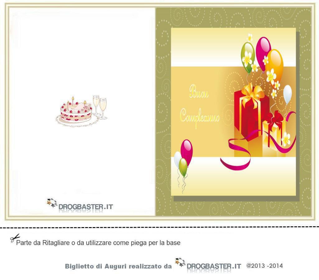 Eccezionale Biglietto da stampare gratis in occasione del compleanno UN57