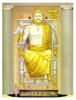 La statua di Zeus rivestita in oro
