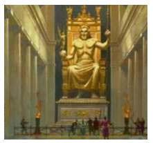 Il tempio con laa statua di Zeus