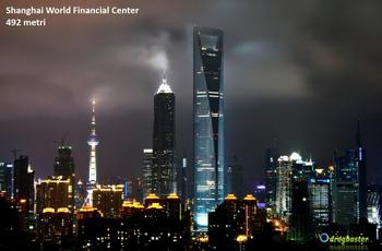 Shanghai World Financial Center la sua altezza è di 492 metri