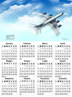 calendario 2016 aereo in volo