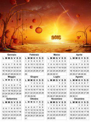 calendario 2016 Tema fantastico