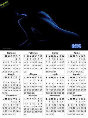 calendario 2016 donna immagine 3d