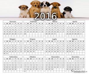 calendario 2016 cuccioli di cane varie razze