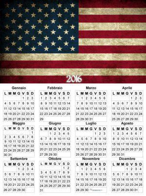 calendario bandiera America