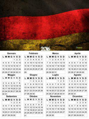 calendario bandiera Tedesca
