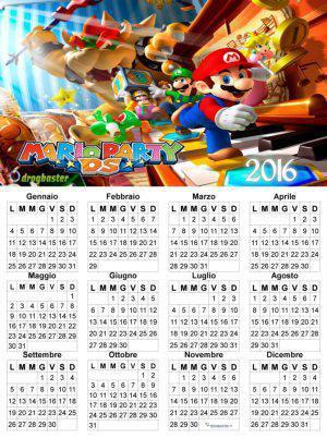 calendario annuale con Mario Bros