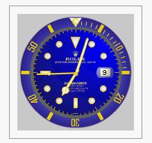 widget orologio elegante