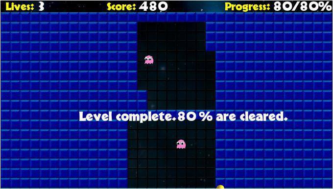 screenshots del gioco pacman xon