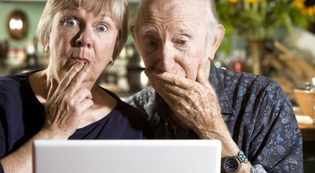 coppia di nonni impressionati - Bloccare i siti porno