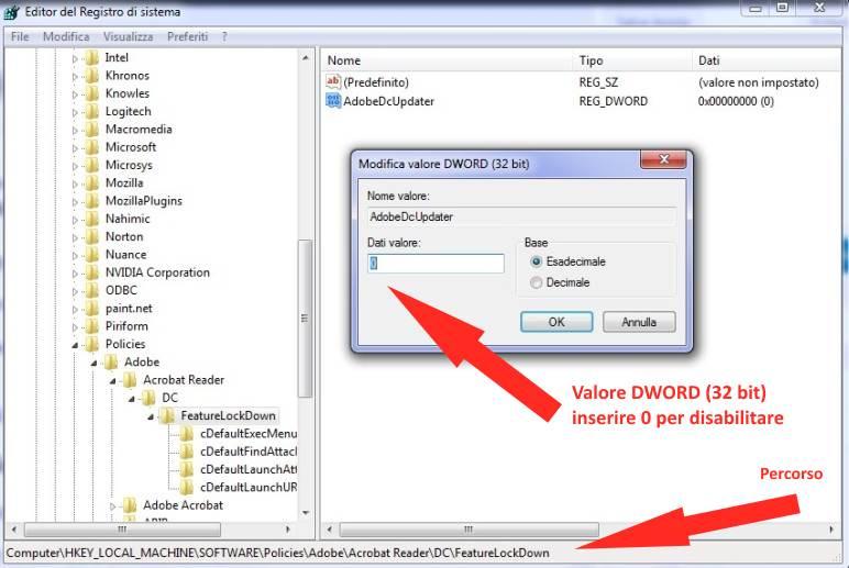 Come disattivare Aggiornamenti automatici in Adobe Reader -