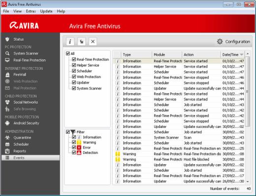 screenshot avira antivirus pro 2017