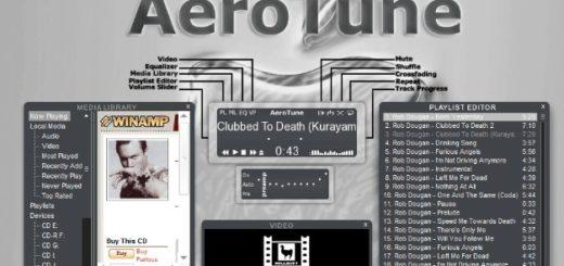 aero tune skin winamp