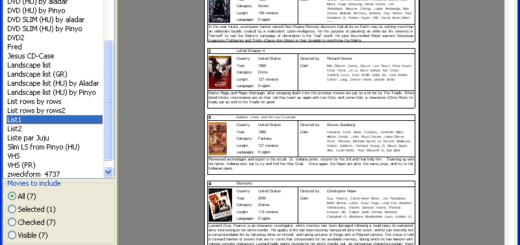 programma per gestire la collezione di film su DVD, CD, videoCD, DivX