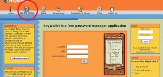 KeyWallet: programma per gestire le password