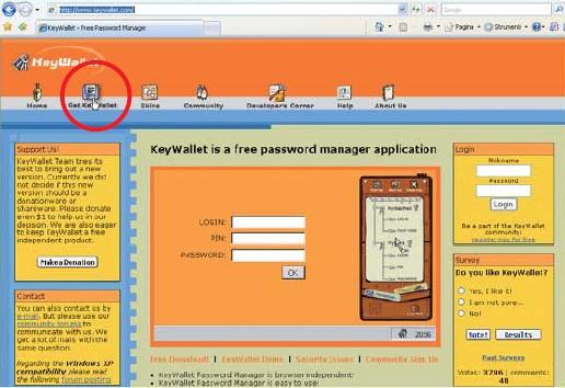 KeyWallet: programma per gestire le password
