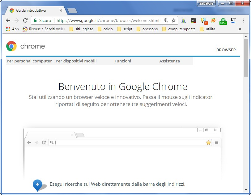 chrome welcome
