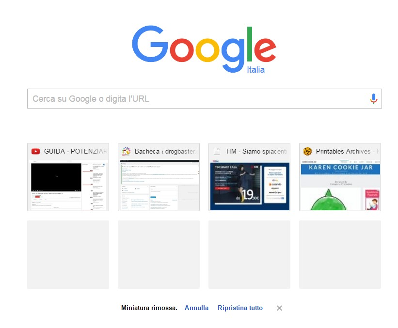 nuova finestra google chrome