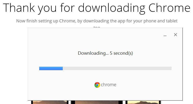 start download Chrome