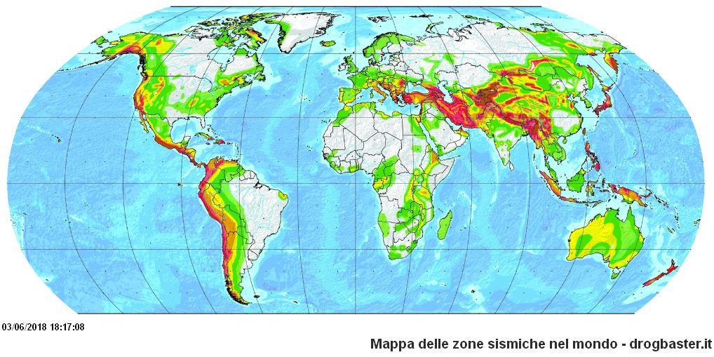 Cartina Zone Sismiche Italia.Le Principali Zone Sismiche Nei Continenti