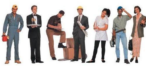 lavoro per donne e uomini