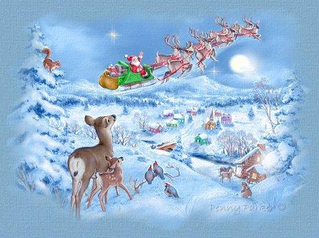 Immagini Di Babbo Natale Con La Slitta E Le Renne.Disegni Da Colorare Di Babbo Natale Con La Renna