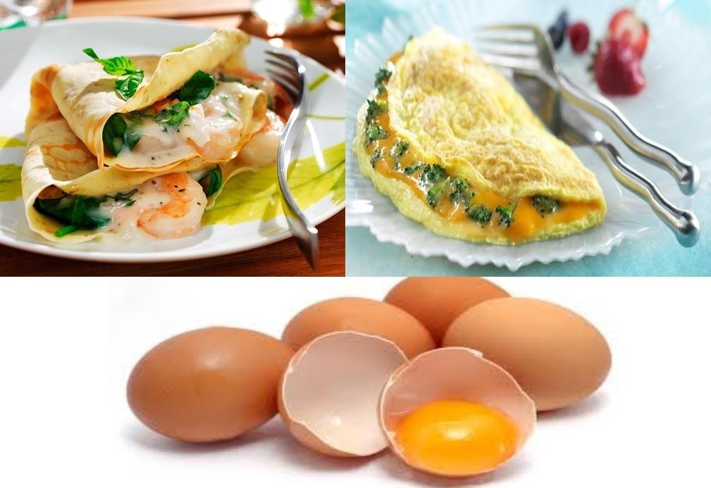crepes omolettes uova